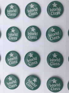 WCSQM clutch pin badge - £1.00 each