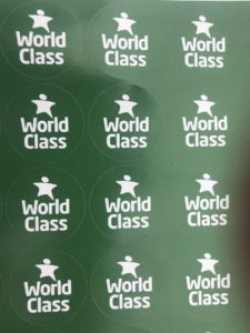 WCSQM stickers (37mm circle) - £20.00 for 500 stickers