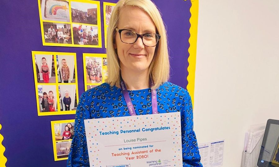 St Giles Primary School Teaching Assistant hailed a lockdown hero